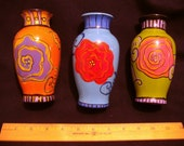 Orange Vase (hand-painted)