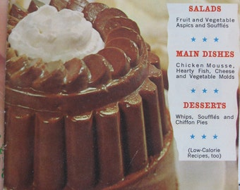 60s Knox Gelatine Cook Booklet - Fabulous Foods That Are Fun To Fix - Mid Century Vintage 1960s Cookbook Cook Book
