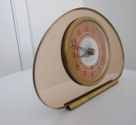 30s Seth Thomas Deco Clock Sequin Mirror Model Electric - 1930s Deco Clock