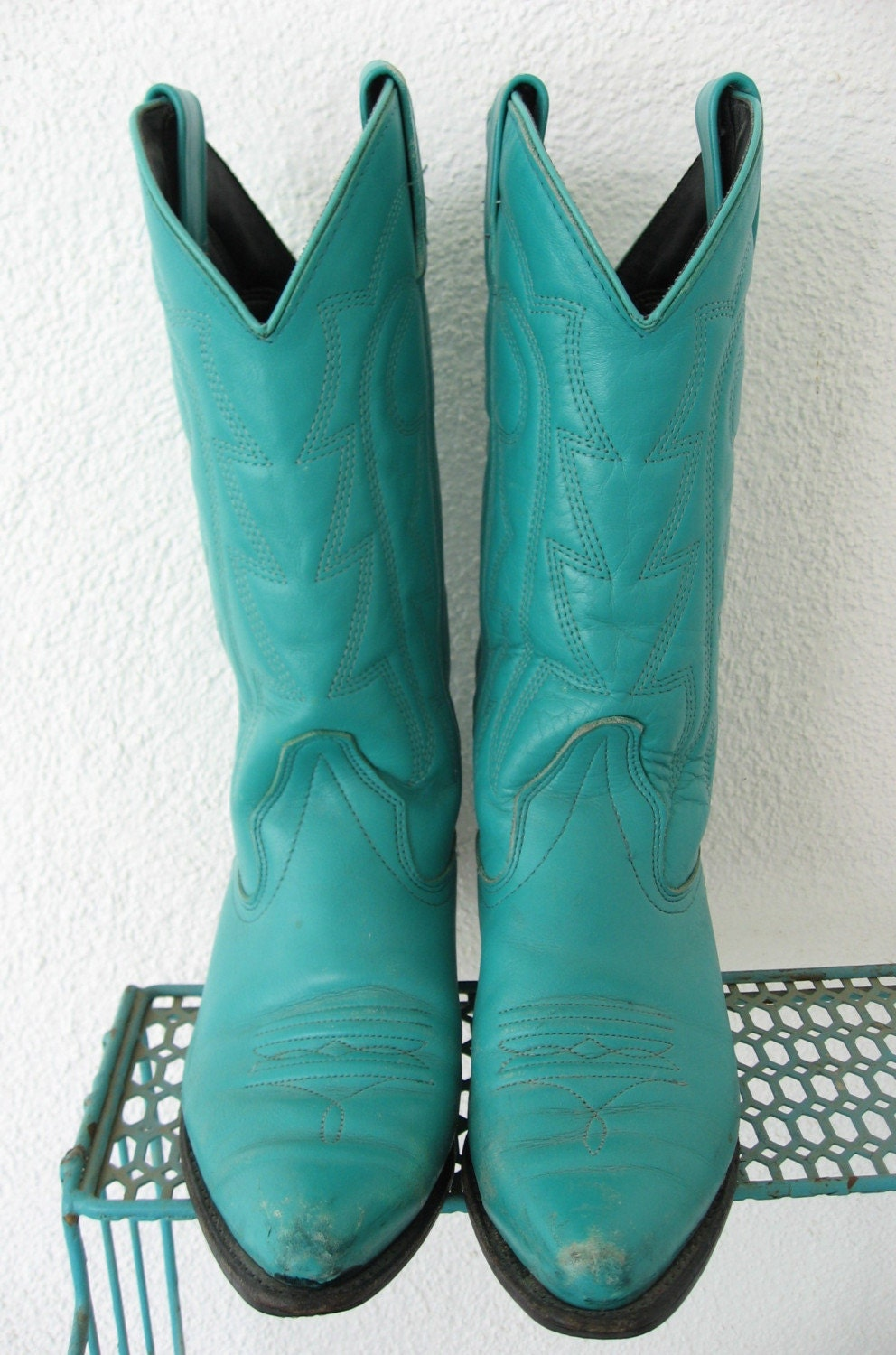 Turquoise Cowgirl Boots Size 6 M