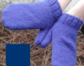 Pure and Simple Royal Blue Mittens by Winsome and Saucy