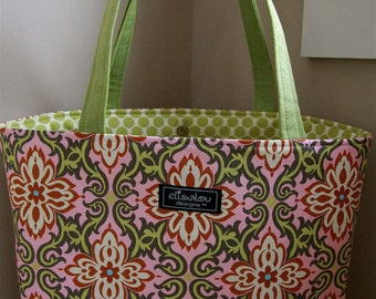 Temple Garland Boxy Tote Pink