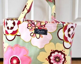 Boxy Tote Bag in Pink Kleo
