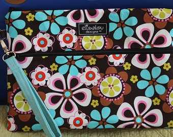 Kindle / iPad Mini / Nook / eReader / Padded Pouch / Bag / Retro Round