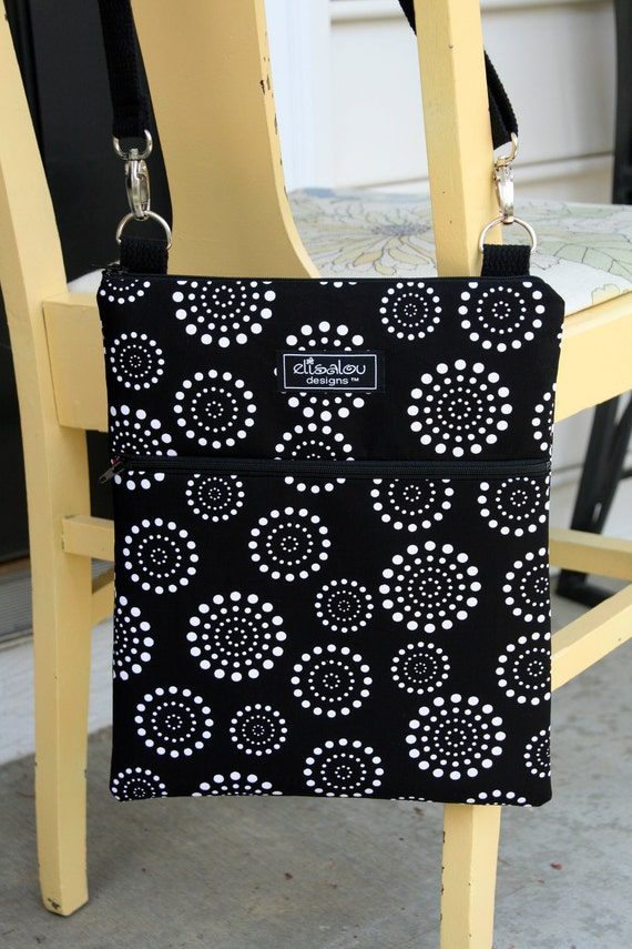 Padded Apple iPad Sling Bag- Spiral Dot