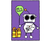 It's A Robot, Flat Card 4.25x6 with envelope