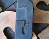 Antique Letterpress Wood Type Printers Block Letter G