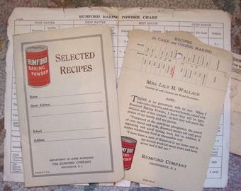 3 Pc. 1926 Rumford Baking Powder Recipe Collection and 1909 Telegram