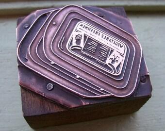 Vintage Letterpress Printers Block Vegetable Refrigerator Dish