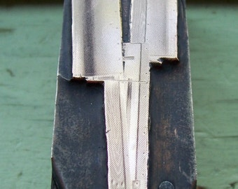 Corn Planter Vintage Letterpress Printers Block