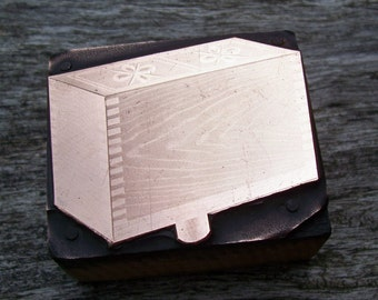 Letterpress Printers Block Butter Mold