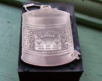 Eagle Handy Can with Spigot Antique Letterpress Printers Block