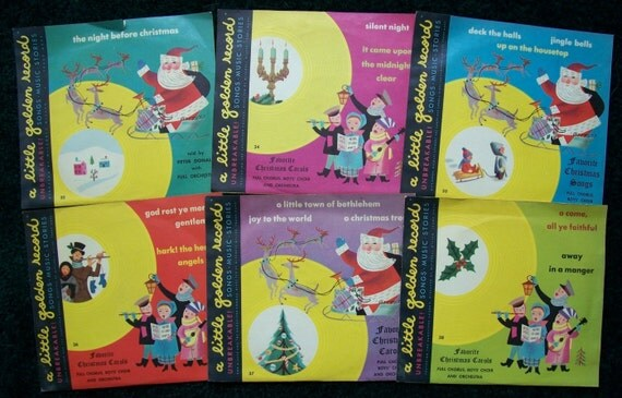 Six Christmas Little Golden Records from 1949