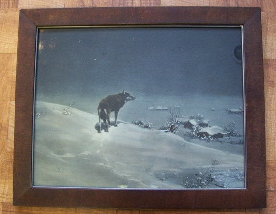 The Lone Wolf By Victor Kowalski By Preservecottage On Etsy
