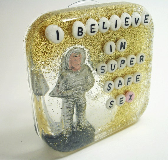 Funny Gift, SALE Geekery Geek, Housewarming Gift, I Believe in Super Safe Sex - Art for your Shower