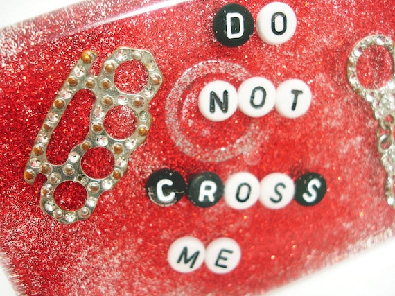 Don't Cross Me - Wateproof Shower Art