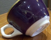 Royal Purple and Gold Tea Cup