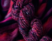 THE VIXEN semi solid textured tweed Merino roving or top for spinning or felting 4 oz. Limited quantity.