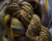 Last one. URBAN LEGEND semi solid textured tweed Merino roving or top for spinning 4 oz. Limited Edition.