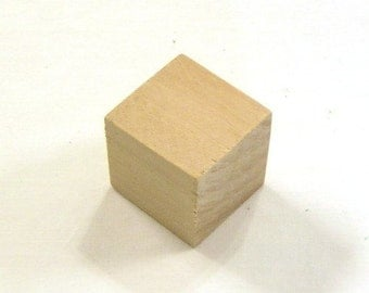 1 inch - Unfinished Maple Wood Cubes - 50 Blocks