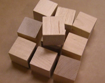 1.5 Inch - Unfinished Maple Wood Cubes - 100 Blocks