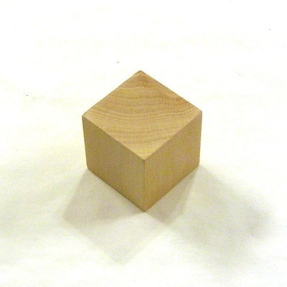 2 inch unfinished wood cubes 40 blocks for Plain wooden blocks for crafts