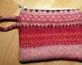 Soft Pink felt zipper pouch