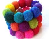 Wool Felted Bracelet- Custom Order Your Colors