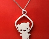 Toy Grabber Necklace - Bear - acrylic jewelry