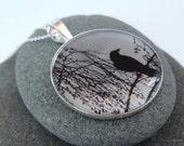Photo Pendant, Melancholy Crow XL