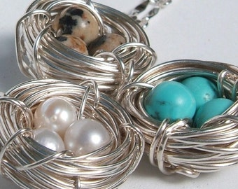 Mother Bird Nest Necklace