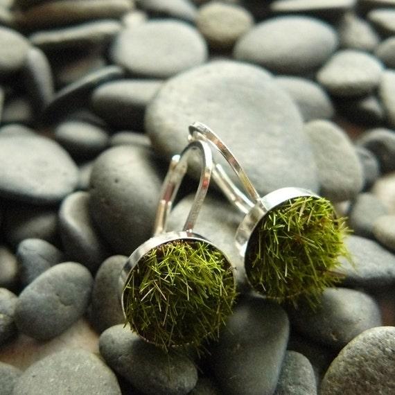 Gather Moss Earrings, Medium