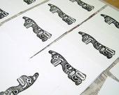 totem cards in black