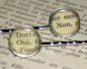 Literary Hair Pins - Oui, Non