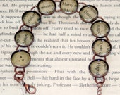 Harry Potter Recycled Book Bracelet / Gift for Her / Literary Jewelry / Book Lover Gift / Harry Potter Bracelet / Harry Potter Jewelry