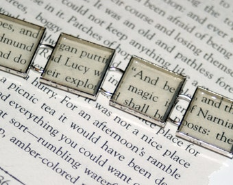 The Chronicles of Narnia Recycled Book Bracelet - Literary Jewelry, C.S. Lewis