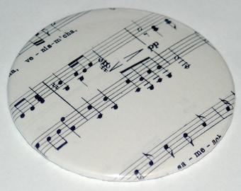 Vintage Sheet Music Pocket Mirror / Music Note Mirror / Stocking Stuffer / Gift For Her / Music Teacher Gift / Musicisn Gift / Under 10
