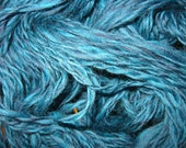 Bleu de Methylene-- handspun yarn, 130 yards