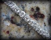 Handmade Sterling Silver Byzantine Bracelet