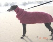 Quick and Easy GREYHOUND Dog SWEATER Crochet Pattern with Snood PDF Instant Digital Download