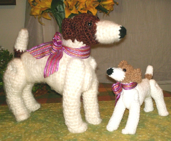 Knitting Pattern For Jack Russell Dog : Jack Russell Terrier Dog Crochet Pattern PDF by AerieDesigns