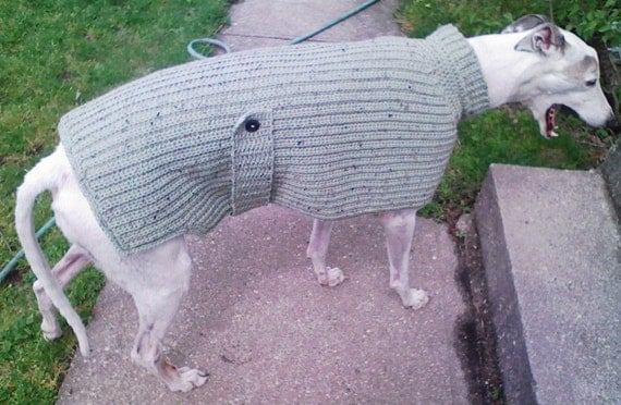 Knitting Patterns For Greyhound Dogs : KNIT LOOK Greyhound Dog Sweater Crochet Pattern by AerieDesigns