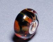 Lampwork Glass Bead Koi Pond with Silver Core by Calumey