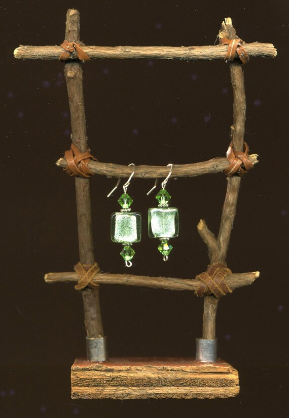Twig Ladder for Earring Display..a piece of functional sculpture for your favorite earrings...reclaimed wood
