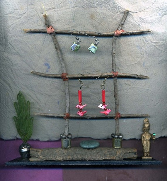 Twig ladder for jewelry display   CHA Conference indie craft contest winner