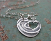 Thoughts Of You In My Heart Hand Embossed Bird Memorial Pendant