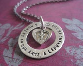 A Moment In Our Arms A Lifetime In Our Hearts Hand Stamped Baby Loss Memorial Necklace