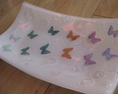Chasing Butterflies Fused Glass Tray