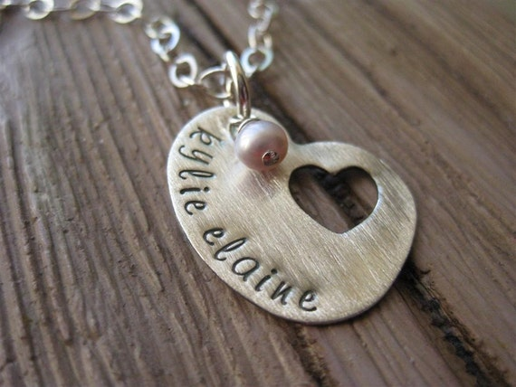 Hand Stamped Memorial Pendant Missing Piece Of My Heart