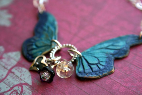 Reserved for Brandie Butterfly Wing Pendant Baby Loss Memorial Necklace